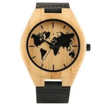 Reloj Bambú Mapamundi, para los auténticos viajeros