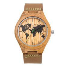Reloj Bambú Mapamundi, para los auténticos viajeros Mujer
