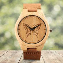 Butterfly, un reloj de madera con un guiño a la fantasía