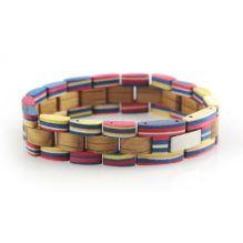 Pulsera de madera de Colores de Sheychelles