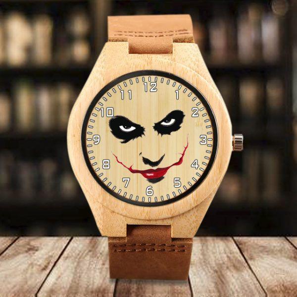 Reloj madera de bambu Joker