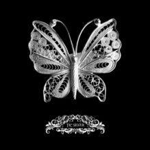 Broche filigrana mariposa