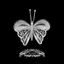 Broche filigrana mariposa tigre