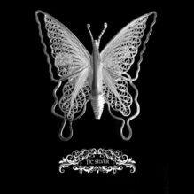 Broche filigrana mariposa ulises