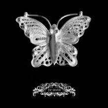 Broche filigrana mariposa cebra