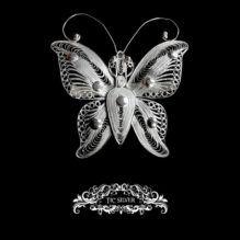 Broche filigrana mariposa cardui