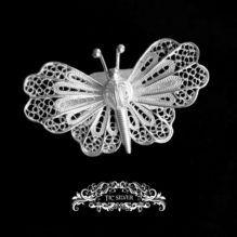Broche filigrana mariposa luna