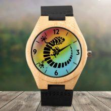Geko, Reloj madera de bambú. Edición Especial Alvar Aldiel